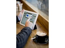 Digitales Bezahlen mit dem Tablet