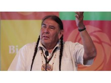 Tom BK Goldtooth,  Dine'/Dakota, United States - at Earth Rights Conference 2019