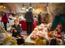 Julmarknaden lockade stora och små besökare