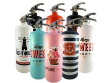 Designade brandsläckare – nu på Bluebox.se