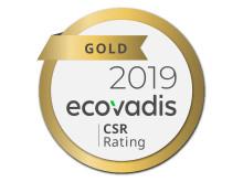 EcoVadis Guld CSR Rating 2019