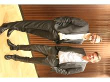 Adm. direktør Lars Falkenberg fra Elite Miljø A/S (tv) og adm. direktør Jørgen Utzon fra Coor Service Management A/S