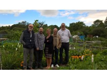 Coseley stn adopters great allotment gardeners for their station