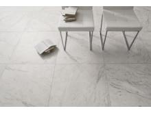 Marmi Bianchi klinker med marmorutseende