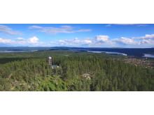 Vy över Björkberget i Siljansnäs