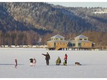 Kallbadhuset vid Åsunden Ulricehamn