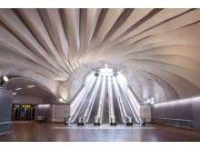 Stockholm City Pendlarkatedralen. Konstnär Karin Lindh. Foto Markus Hallberg