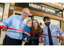 Eye cancer survivor Ezmai helps Vision Express reopen Rugby store