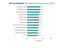 SKI kundnöjdhet Fjärrvärme Företagskunder 2018