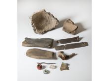 Fynd från undersökningarna av platån i Oxhagen