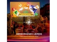 """Titelseite der 2. Auflage des alternativen Stadtführers """"Verborgenes Leipzig"""""""