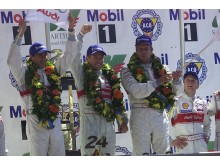 In 2000, Emanuele Pirro, Tom Kristensen and Frank Biela were Audits first winners at Le Mans