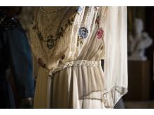 Klänning buren av Cora Crawley, grevinna av Grantham