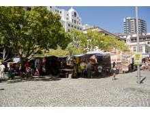 Green market square i Kapstaden
