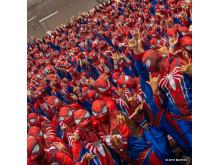 Den största samlingen människor klädda som Spider-Man