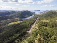 Adkomstveien Harbaksfjellet vindpark