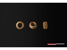 Guldperle fundet ved Mårslet foto Moesgaard Museum