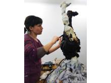 Alannah Robins lakritsskulptur till Lakritsfestivalen 2015