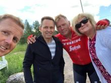 Nybrobragden ledare Anette & Börje med Måns Möller och Christer Skog
