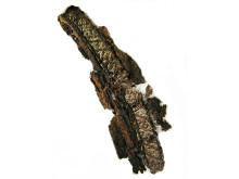 Brickvävda band med geometriska mönster är vanliga i vikingatida gravar.