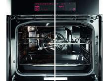 Bruk 3 minutter av din tid og få ren ovn og stekebrett.