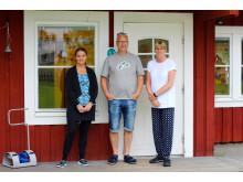 Emmy Norberg, Folke Jonasson och Linda Andersson