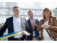 Invigning av nya naturgasanläggningen vid Gyprocs fabrik i bålsta