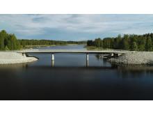 Vy över den nya Fåröbron.