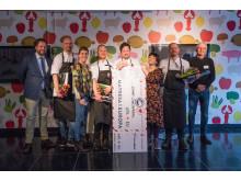Samtliga tävlande i Scandic Burger Challenge samt jurymedlemmarna.