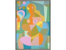 Liselotte Watkins Calma 2017, akryl och lack på duk, 70 x 100 cm