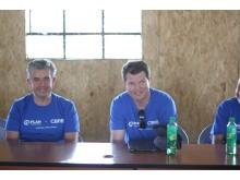 Jonny Hull och Patrik Kallenvret besöker Nairobi för projektet Safer Cities