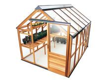 Så nära ett underhållsfritt växthus i trä man kan komma