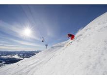Action på ski i Åre
