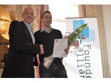 Niclas Carlsson, Founders Alliance & Mattias Tyrberg, Årets Unga Entreprenör södra Sverige