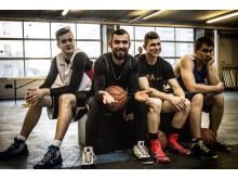 Spillere i basket turneringen til Friday Jam