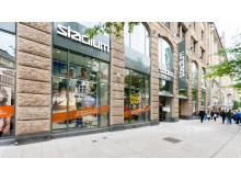 Hamburg-butiken från gatan
