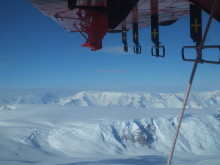 Radar surveys across the Transantarctic Mountains.