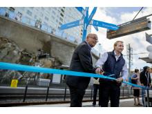 Tvärbanan till Solna station invigs
