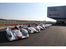 Le Mans winning Audi prototypes (2000-2014) line-up