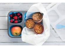 Grove eplemuffins, godt til matpakken