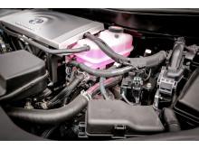 Den vätgasdrivna bränslecellsbilen Toyota Mirai som rallybil har samma drivlina som i standardutförande,