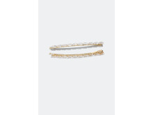 Hair Clips with baguette glass stones 2-pack