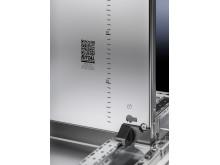 VX25-panelerne er udstyret med en QR-kode for at optimere værdiskabende processer ved produktion af styre- og kontrolskabe.