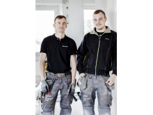 APS ventmontörer Alexander Thorén och Tommy Maringer