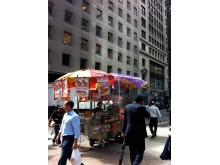New York, hot dog stand