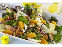 Sprek matsalat med appelsin