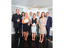 Nectar Business Small Business Awards Winners with judges, Karren Brady and Nectar's James Frost