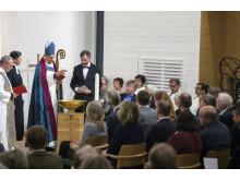 Dopfunten invigs av biskop Per Eckerdal