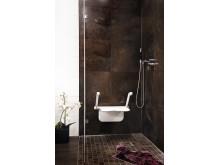 Etac Relax duschsits - endast tre infästning i väggen