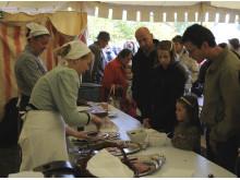 Madboder til historisk marked på Frilandsmuseet